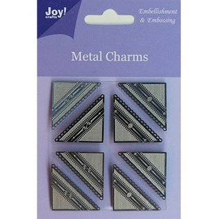 Embellishments / Verzierungen Joy Crafts, Metal Charms hjørne, 8 stykker