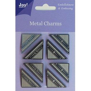 Embellishments / Verzierungen Joy Crafts, Metal Charms corner, 8 pieces
