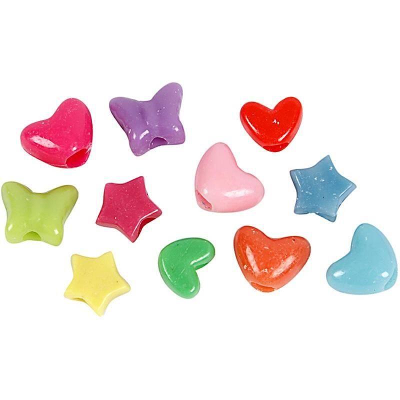 blanding af farver Blanding af plastperler i figur form i en bredt udvalg af farver  blanding af farver