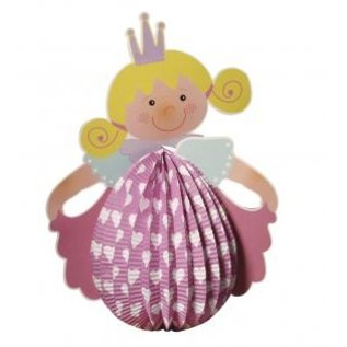 Kinder Bastelsets / Kids Craft Kits Lantern Set Princess, 20cm i diameter, 37,5 cm inkl. Rod + LED lys
