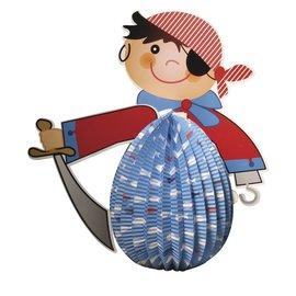Kinder Bastelsets / Kids Craft Kits Lanterne Set Pirate, 20 cm de diamètre, 35,5 cm, incl. Lumière Rod + LED