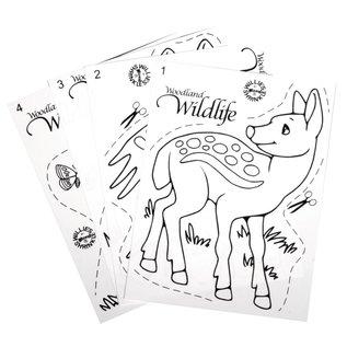 Kinder Bastelsets / Kids Craft Kits Films rétractables fixées faune
