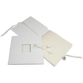 Embellishments / Verzierungen Buch mit Band, Größe 20x20 cm, 1 Stck