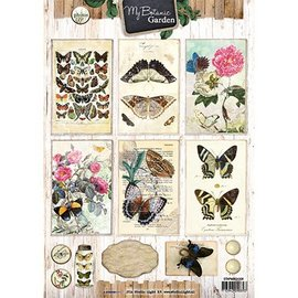 Vintage, Nostalgia und Shabby Shic 4A Bogen, My Botanic Garden