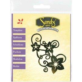 Schablonen, für verschiedene Techniken / Templates Mønstre, Sandy kunst, blomster