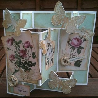 BASTELSETS / CRAFT KITS romantic craft kit for card design