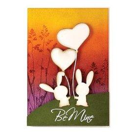 Penny Black Skæring og prægning stencils, Bunny Kærlighed