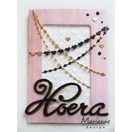Marianne Design Stampaggio e goffratura stencil, catene (punti e cuore)