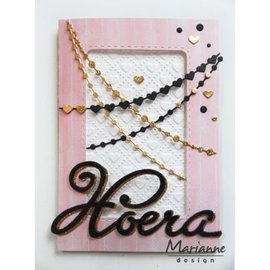 Marianne Design Stamping and embossing stencil, chains (points & heart)
