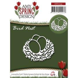 AMY DESIGN AMY DESIGN, Stamping e goffratura stencil, nido d'uccello