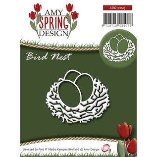 AMY DESIGN Stamping and embossing stencil, bird's nest