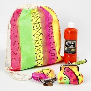 BASTELZUBEHÖR, WERKZEUG UND AUFBEWAHRUNG Un abbigliamento estivo neon di colore: colore tessuto di alta qualità, a base di acqua, produttivo
