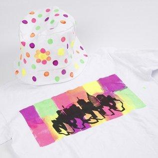 BASTELZUBEHÖR, WERKZEUG UND AUFBEWAHRUNG En neon-farvet sommer tøj: Høj kvalitet tekstil farve, vandbaseret, produktiv