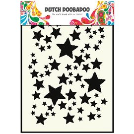 Dutch DooBaDoo Pronty, Dutch Mask Art,A5, Sterne