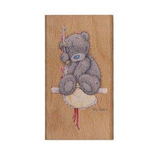 Me to You Mig til dig, nusset bamse, træ stempel, HM STAMP