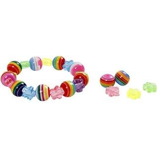 Farverige perler med stribemønster