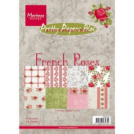 DESIGNER BLÖCKE / DESIGNER PAPER Pretty Papers, A5 , French Roses, 32 Blatt, 4 x 8 Motive