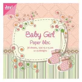 Joy!Crafts / Jeanine´s Art, Hobby Solutions Dies /  Papir blok, 15x15cm, Baby Girl