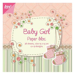 Joy!Crafts / Hobby Solutions Dies Paper block, 15x15cm, Baby Girl