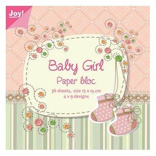 Joy!Crafts / Hobby Solutions Dies Papir blok, 15x15cm, Baby Girl