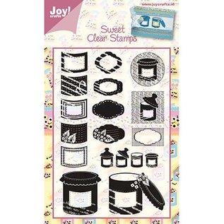"""Joy!Crafts / Jeanine´s Art, Hobby Solutions Dies /  Klare frimærker, """"slik"""" slik"""