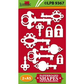 Embellishments / Verzierungen Chipboard, Schlüssel und Schlösser