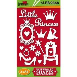 Embellishments / Verzierungen Chipboards, Litle Princess