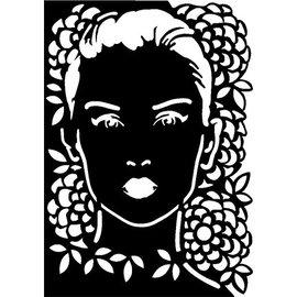 Dutch DooBaDoo Máscara de Stencil rosto, desenhos, 297 x 210mm