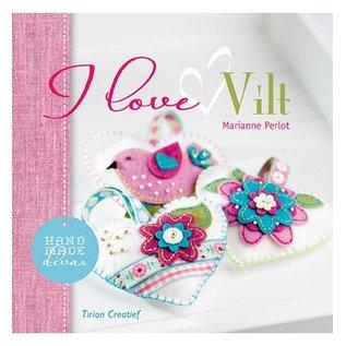 Embellishments / Verzierungen Paper 15x15cm, I love vilt (nl)