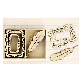 Objekten zum Dekorieren / objects for decorating Wood Icons - Delight - Holze Verzierungen