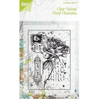 Joy!Crafts / Hobby Solutions Dies Transparent Stempel, Rose auf ein Postcard