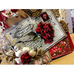 Joy!Crafts / Jeanine´s Art, Hobby Solutions Dies /  Transparent Stempel, Rose auf ein Postcard