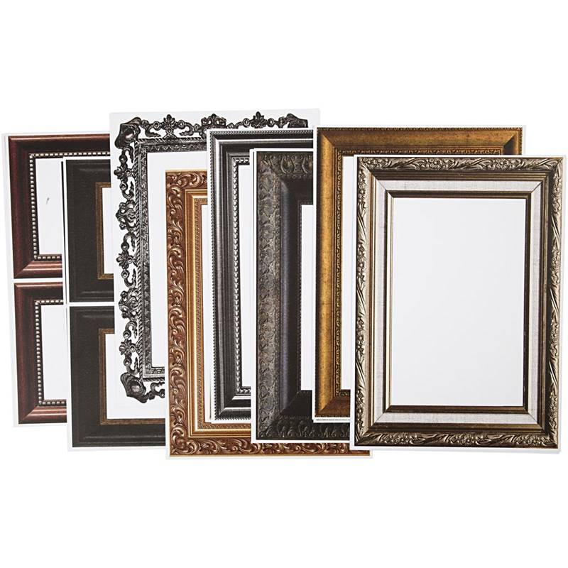 Rahmen, Blatt 26,2x18,5 cm, metallic-farben, 16 sort. Blatt - Ihr ...