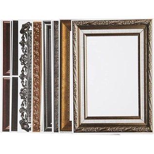 KARTEN und Zubehör / Cards Frame, ark 26,2 x18, 5 cm, metallic farver, 16 slags. Sheet
