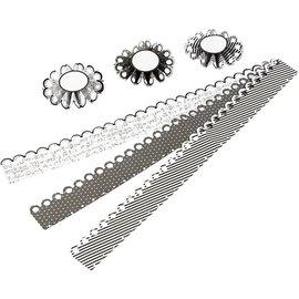 Komplett Sets / Kits Bastelset: Materialset für 6 Stck Rosetten, D: 8 cm, 160 g