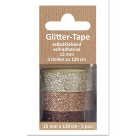 Embellishments / Verzierungen Glitter Tape, self-adhesive, beige, fawn, brown d `