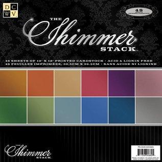 DCWV und Sugar Plum DCWV Designer Block, Shimmer Cardstock Paper Stack