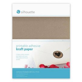 Silhouette NEW here in the SHOP: printable kraft paper for Silhouette Cameo