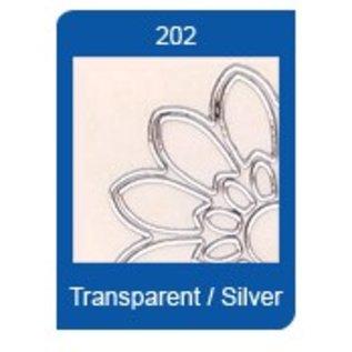 Sticker Starform Transparent Sticker, 10 x 23cm, zum sticken, in silber oder gold