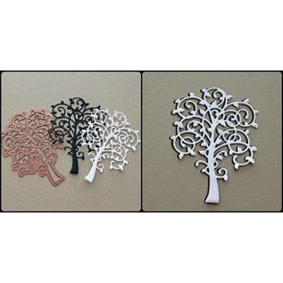Spellbinders und Rayher Stanz - und Prägeschablone, Metallschablone Whimsical Tree
