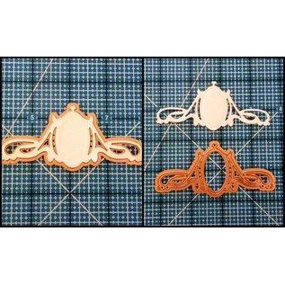 Spellbinders und Rayher Punch - og prægning stencil, metal stencil Mirror