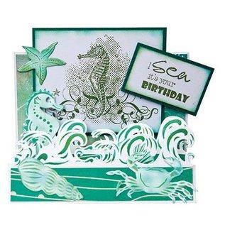 Joy!Crafts / Hobby Solutions Dies Ponsen - en embossing folder: Borduur met golven