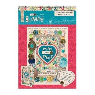 Nähset: A5 Decoupage Medley Card Kit- Sew Lovely