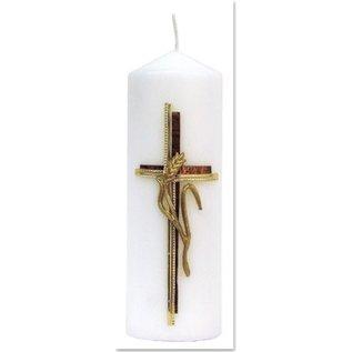 Bastelset: bougie, croix avec l'oreille