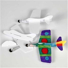 Kinder Bastelsets / Kids Craft Kits 3 aviões para montar e pintar!