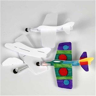 Kinder Bastelsets / Kids Craft Kits 3 Flugzeuge zum Montieren und bemalen!