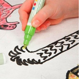 Kinder Bastelsets / Kids Craft Kits Pour décorer facile à peindre avec Stoffmalstift, - 2 pare-soleil pour la voiture