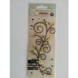 """Embellishments / Verzierungen Schmuckstein-Sticker,"""" Ornamente"""", schwarz"""