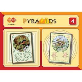 Bücher und CD / Magazines 3D boekje Pyramids 4, mit Stickvorlagen