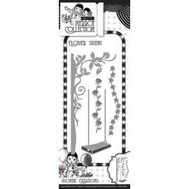 Yvonne Creations Stampaggio e goffratura stencil, fiore altalena con Pergola